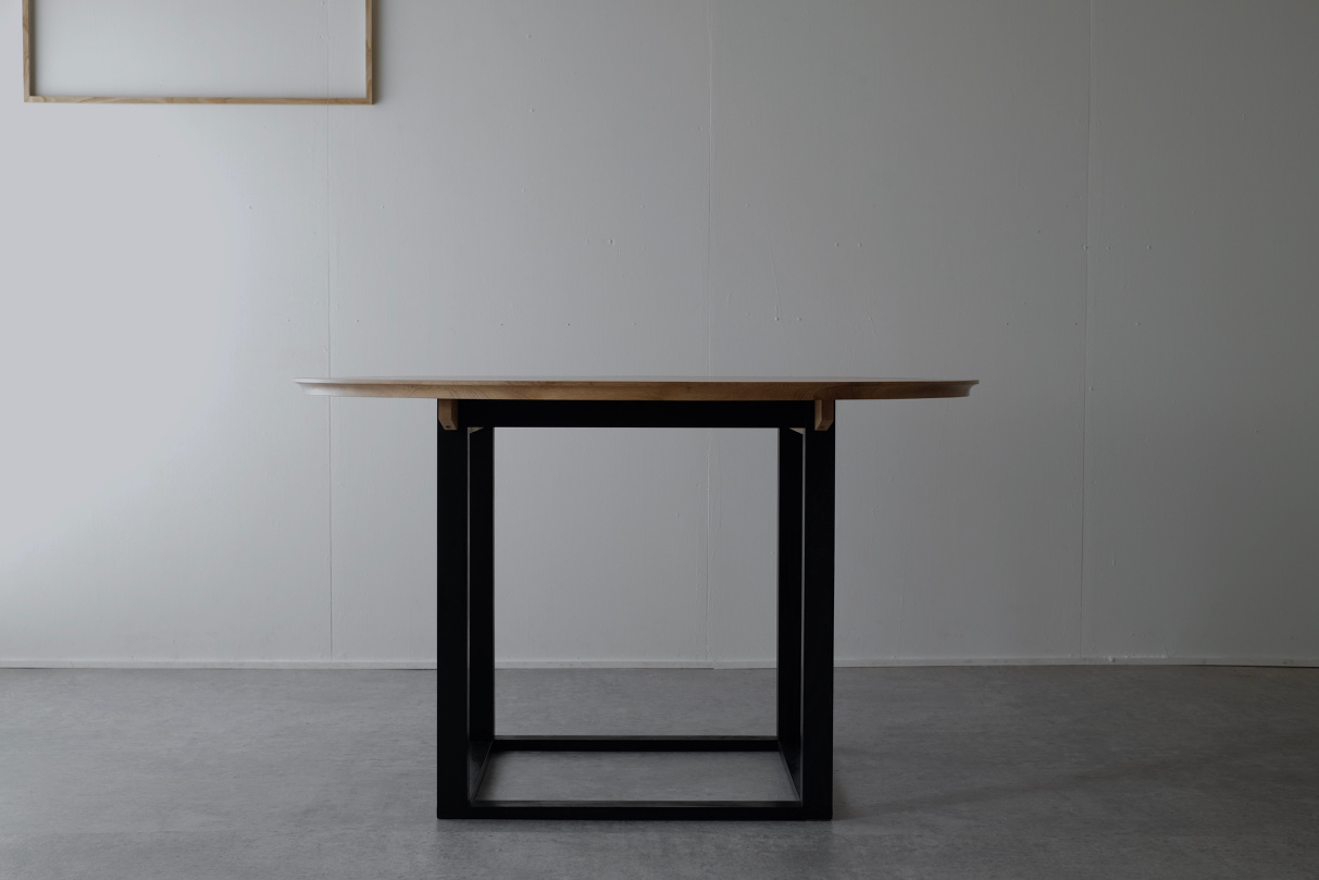 2 tone table  | HLF | HIDA Leather Furniture