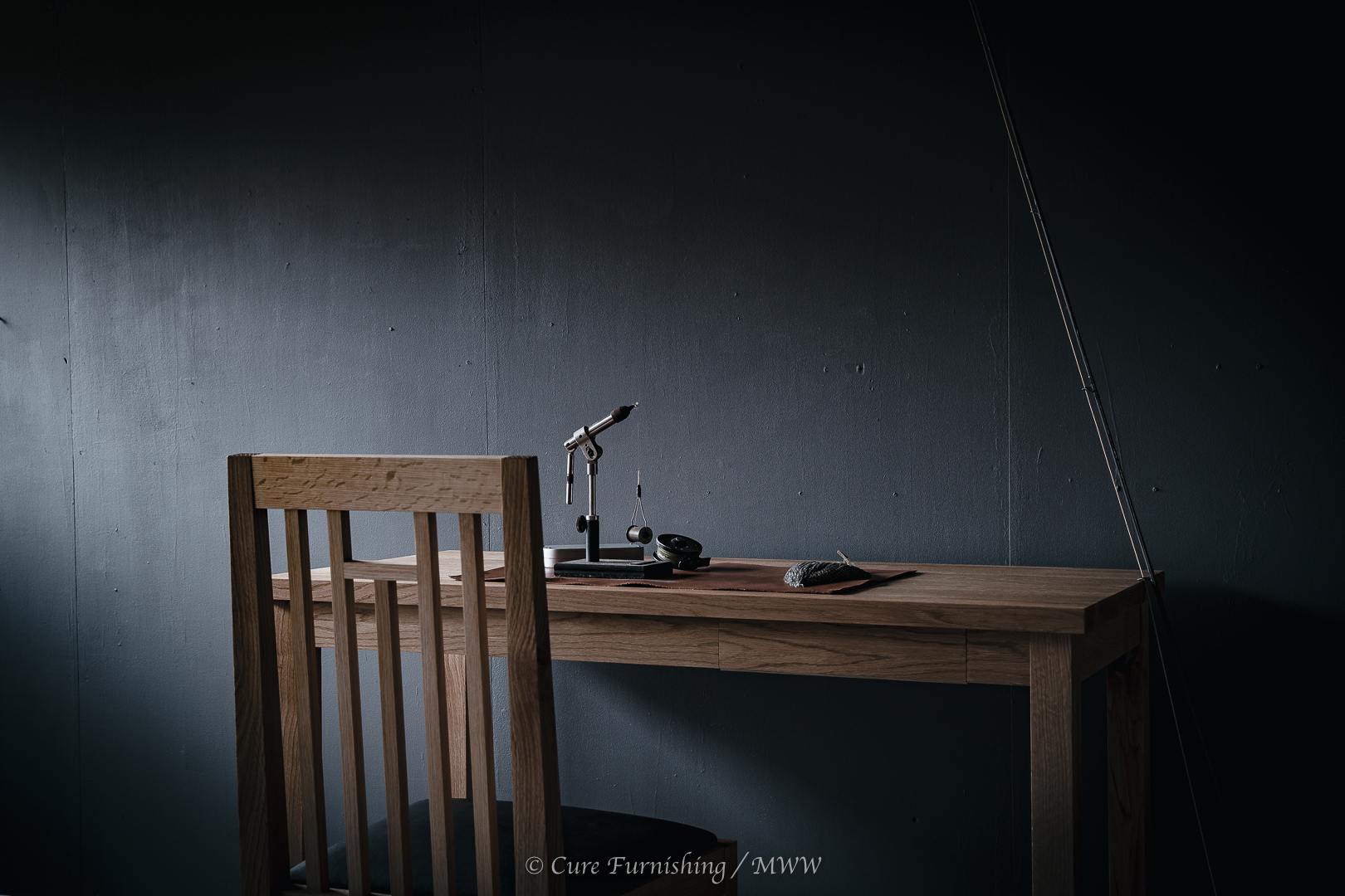 Desk & Chair for flytying | Cure furnishing | HIDA Cure wood works | MWW